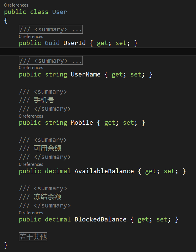 """""""用户""""的代码实现"""